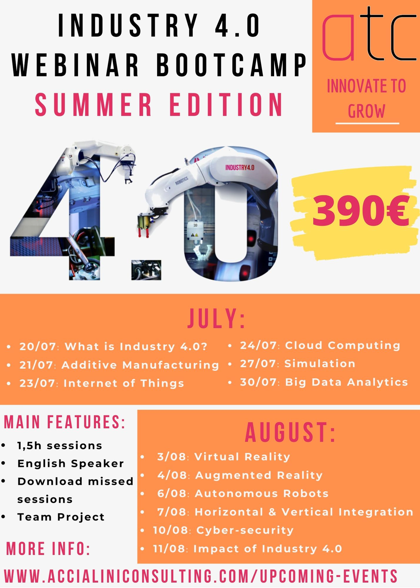 Industry 4.0 Webinar Bootcamp Summer Edition