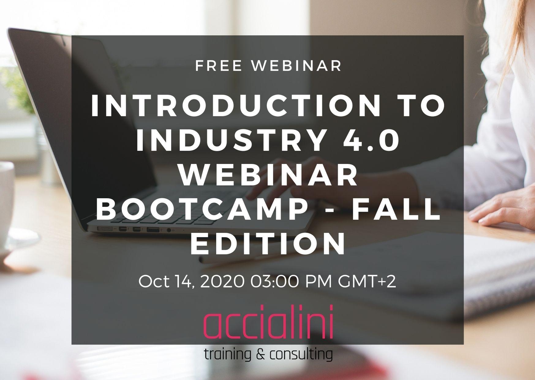 webinar industry 4.0 bootcamp fall edition 2020