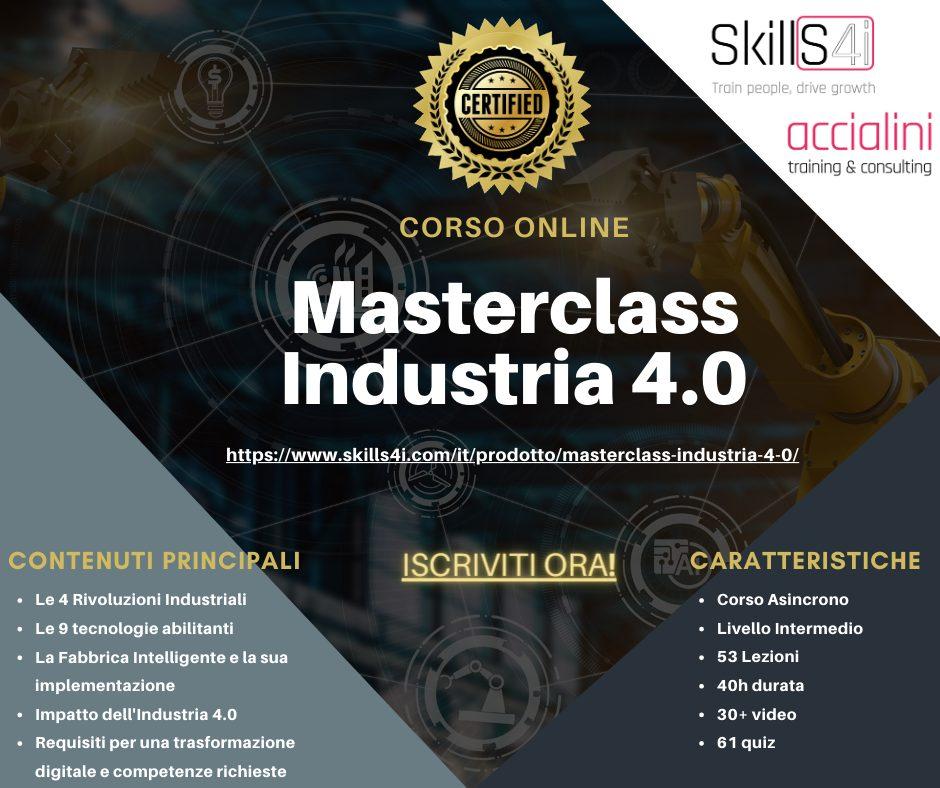 Industria 4.0 Corso Online